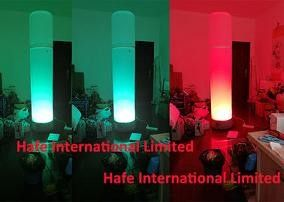 High Illuminate Inflatable LED Lamp Decoration Tower 200W RGB Colorful In Dance Party