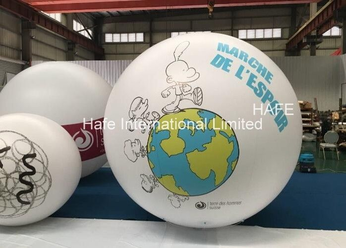 2.5 M Advertising Helium Balloons With Led Lights Logo Branding Customize Printing
